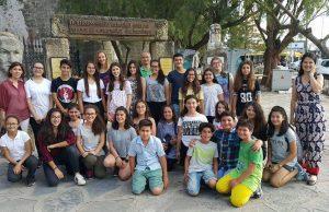 Hüseyin Turgut Karabağlı Ortaokulu öğrencileri