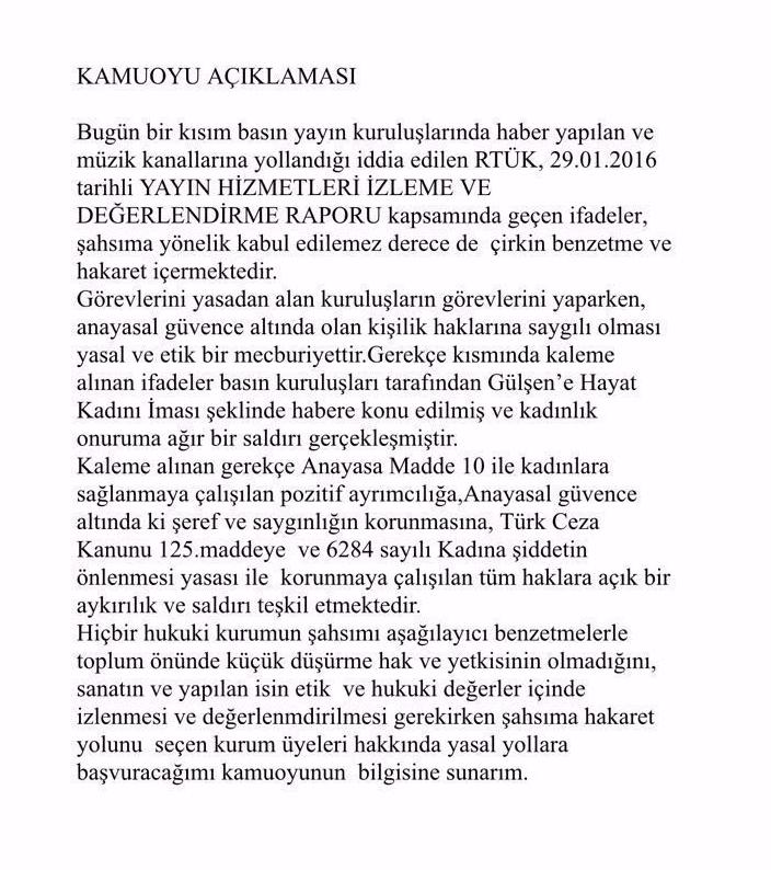 Gulsen_RTUK_Aciklama