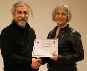 BODFAD Başkanı Ünal Özfuçuçu, Reyhan Bayındır Gönenç'e Teşekkür belgesi verdi