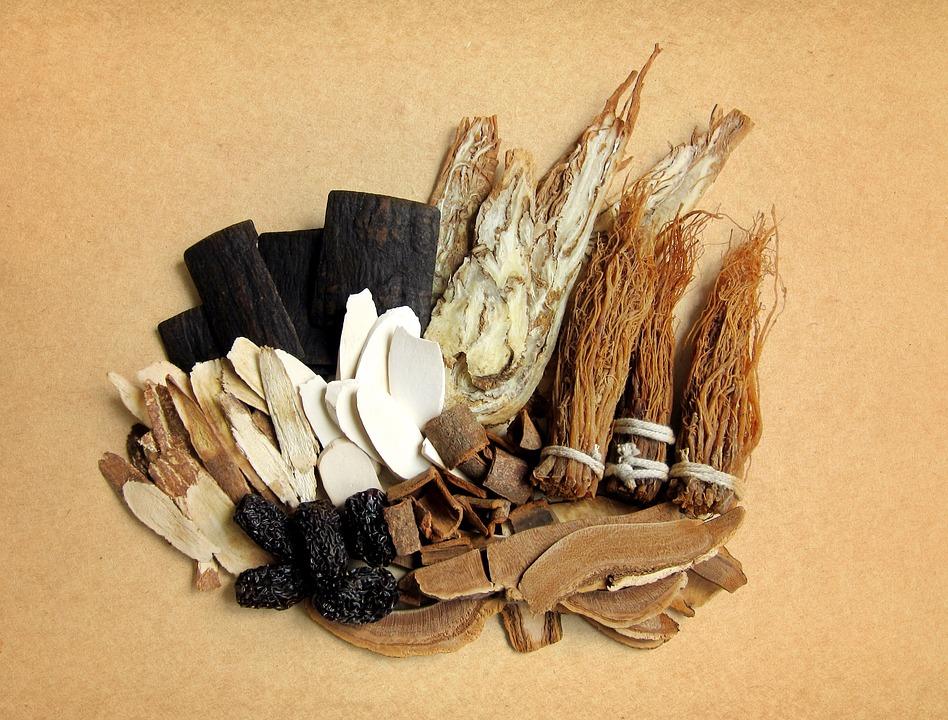 Ginseng, Çin'de tıpta kullanılan temek bitkilerden.